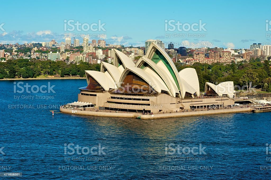 The Sydney Opera House view royalty-free stock photo