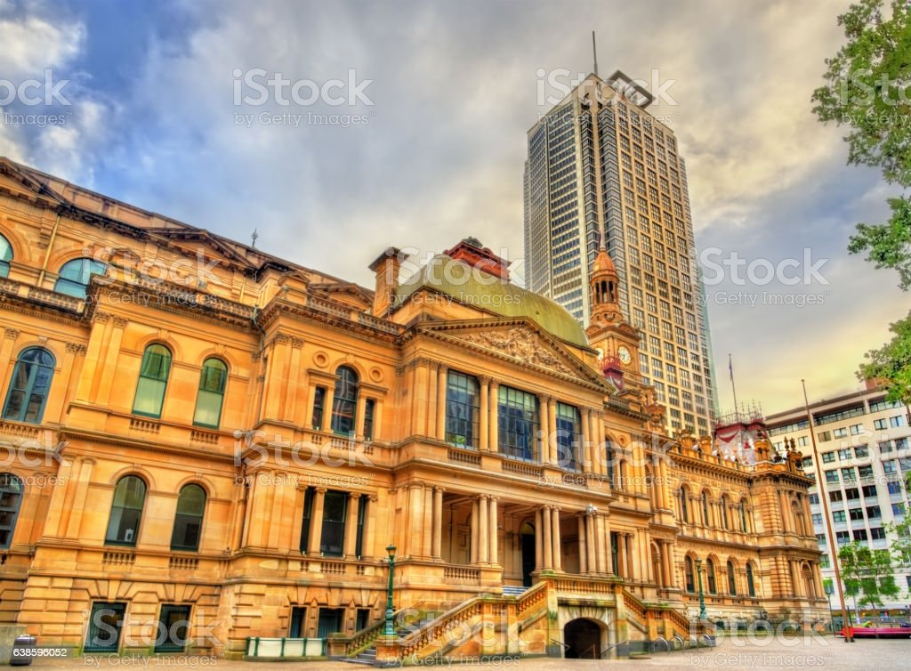 The Sydney Town Hall in Australia. Built in 1889 stock photo