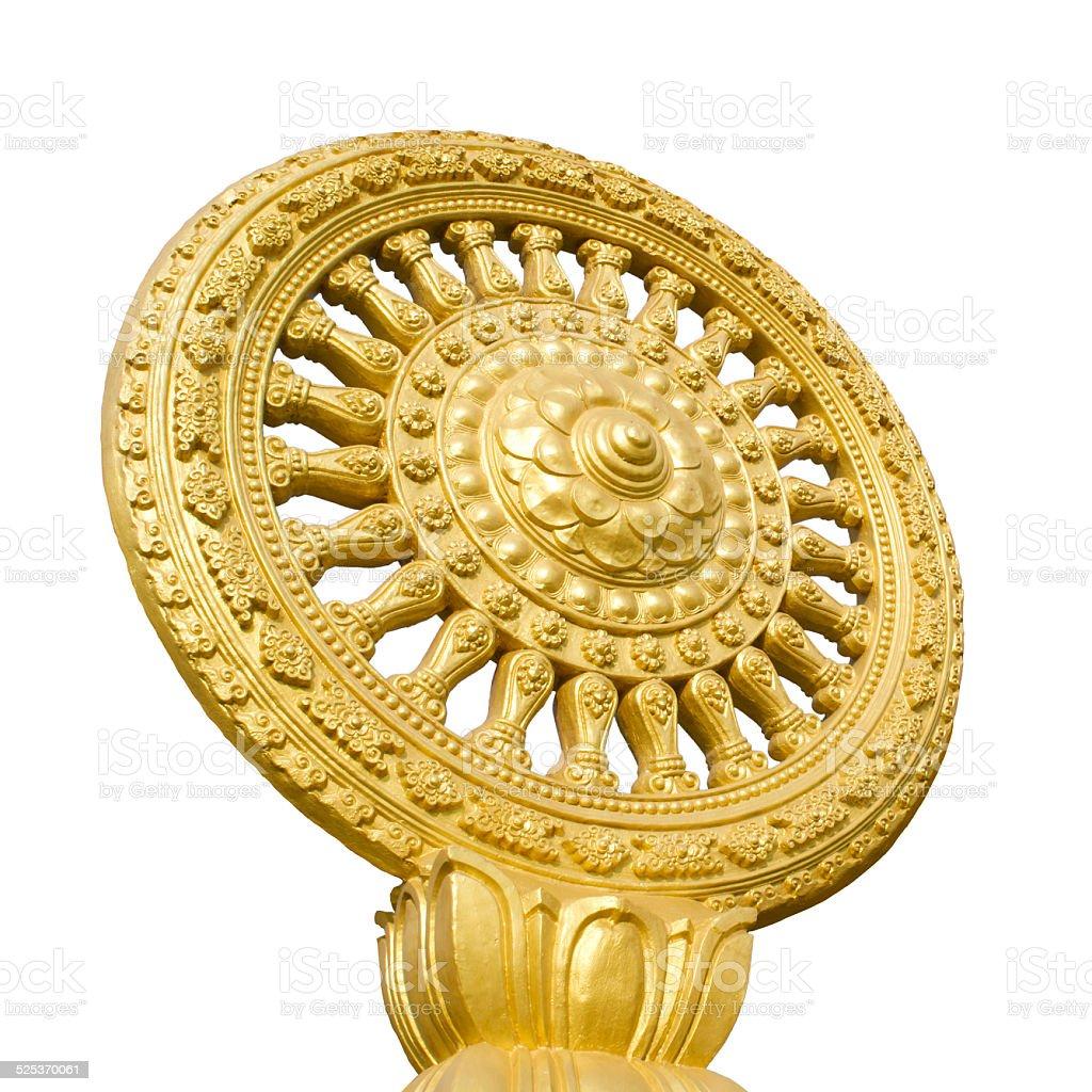 The symbol of Buddhism isolate stock photo