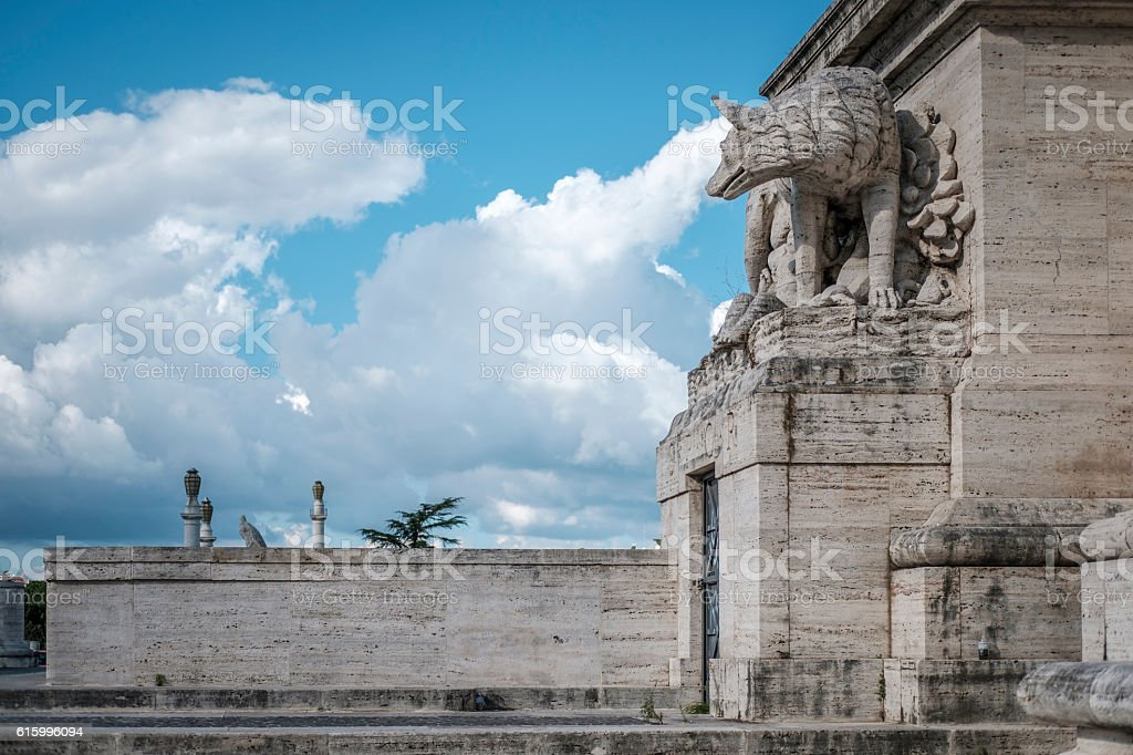 The symbol of Rome, the she-wolf with the twins. Rome stock photo
