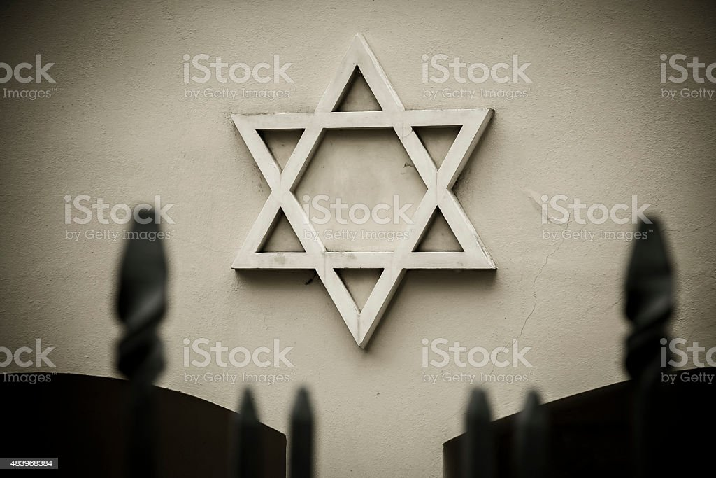The symbol of the Jews. stock photo
