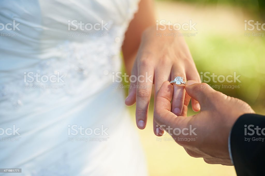 The symbol of their commitment stock photo