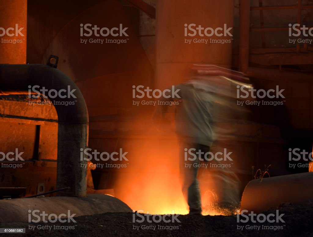 The symphony of sunshine and fire stock photo