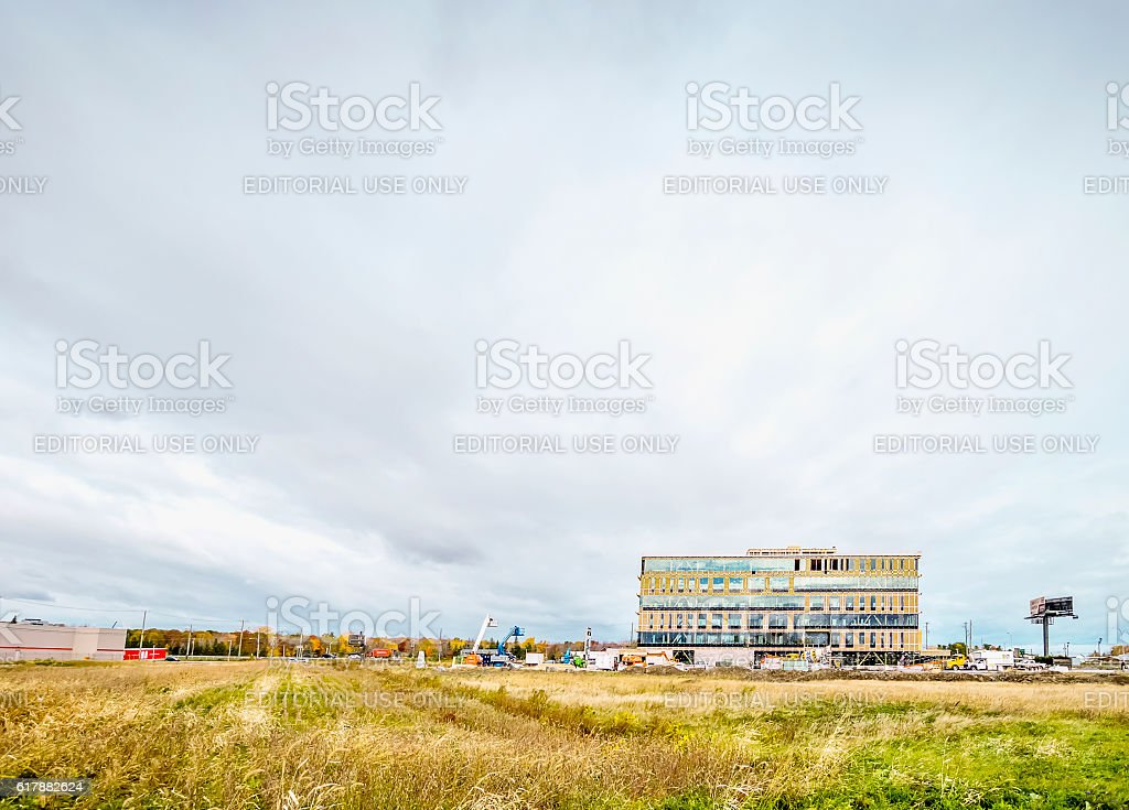 Le complexes Synergia, LEED, St-Hyacinthe stock photo