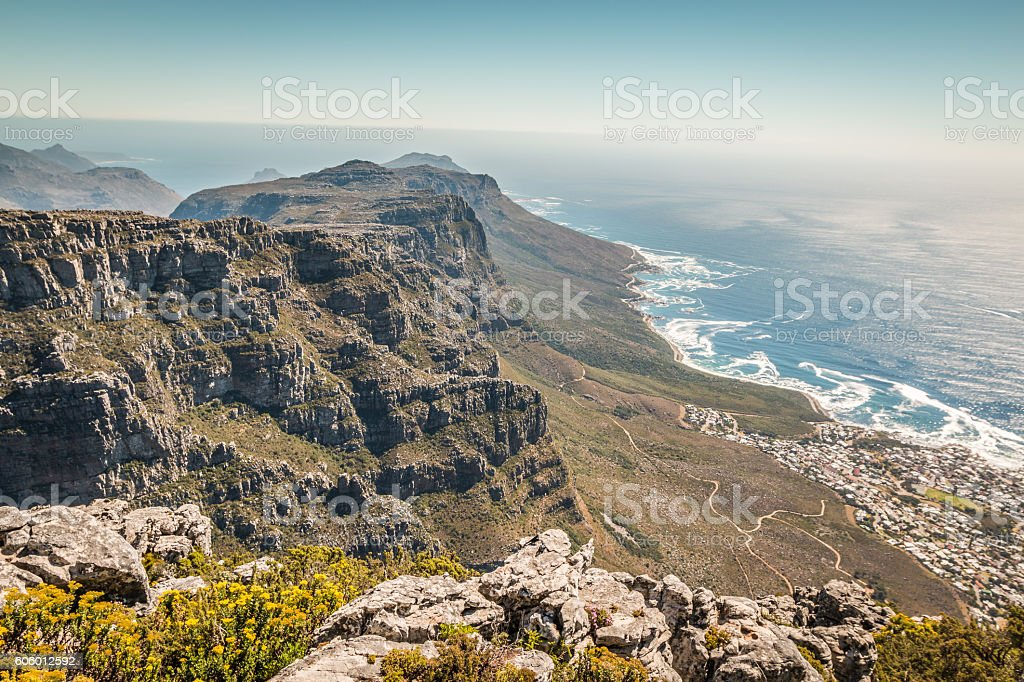 The table mountain in Capetown South Africa stock photo