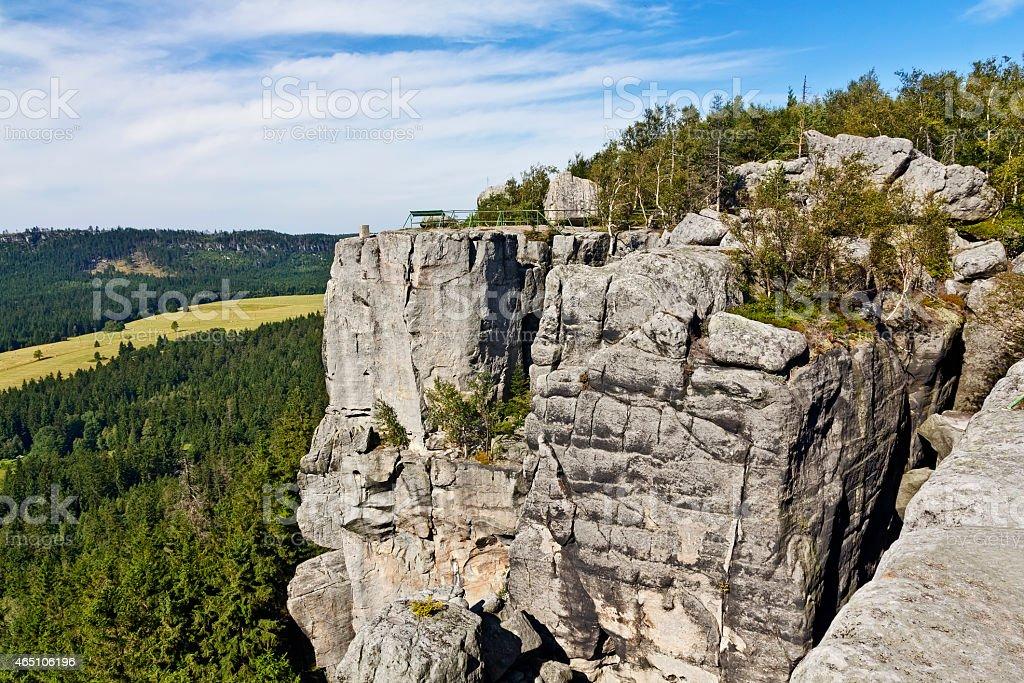 The Table Mountains, Poland stock photo