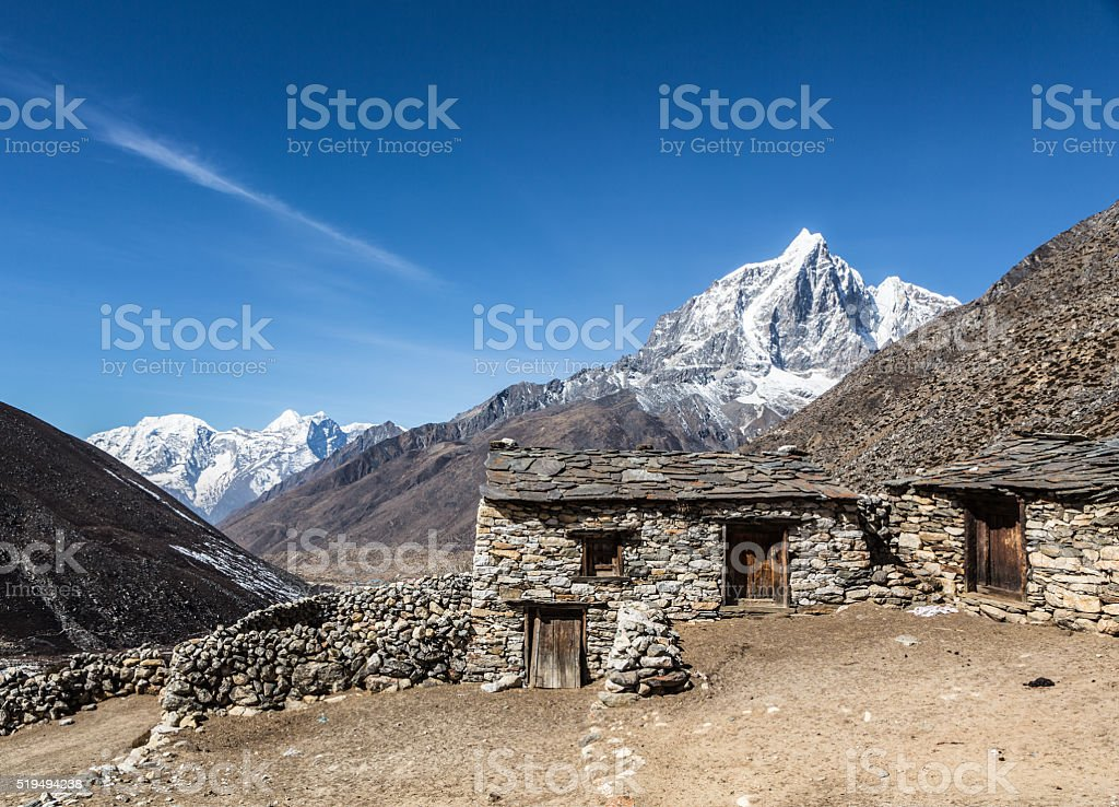 The Taboche peak (6367m) in Nepal stock photo