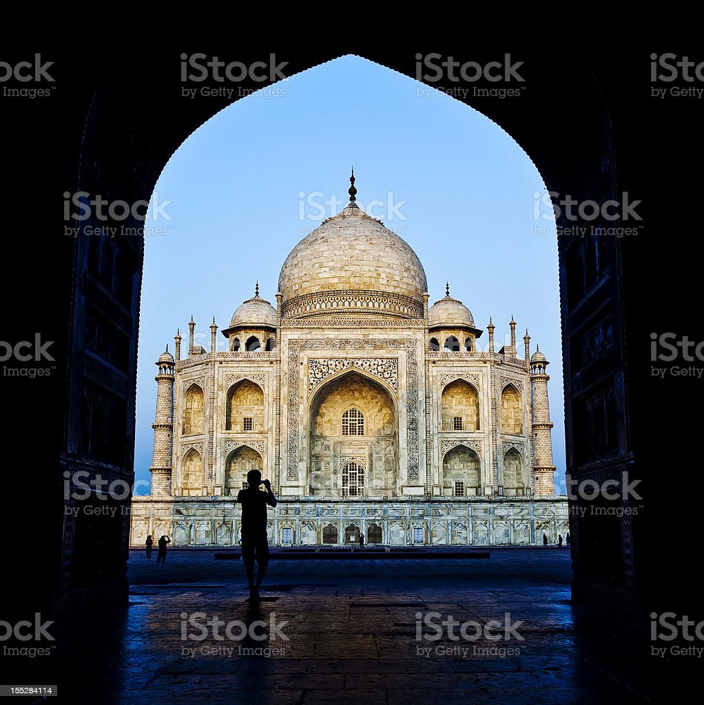The Taj Mahal In Agra, India royalty-free stock photo
