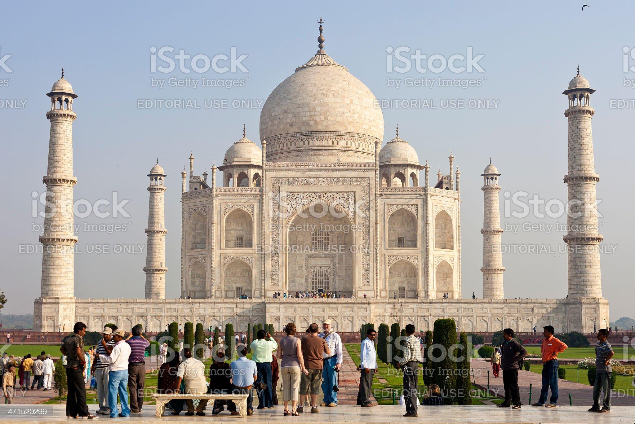 The Taj Mahal In Agra, India royalty-free stock photo