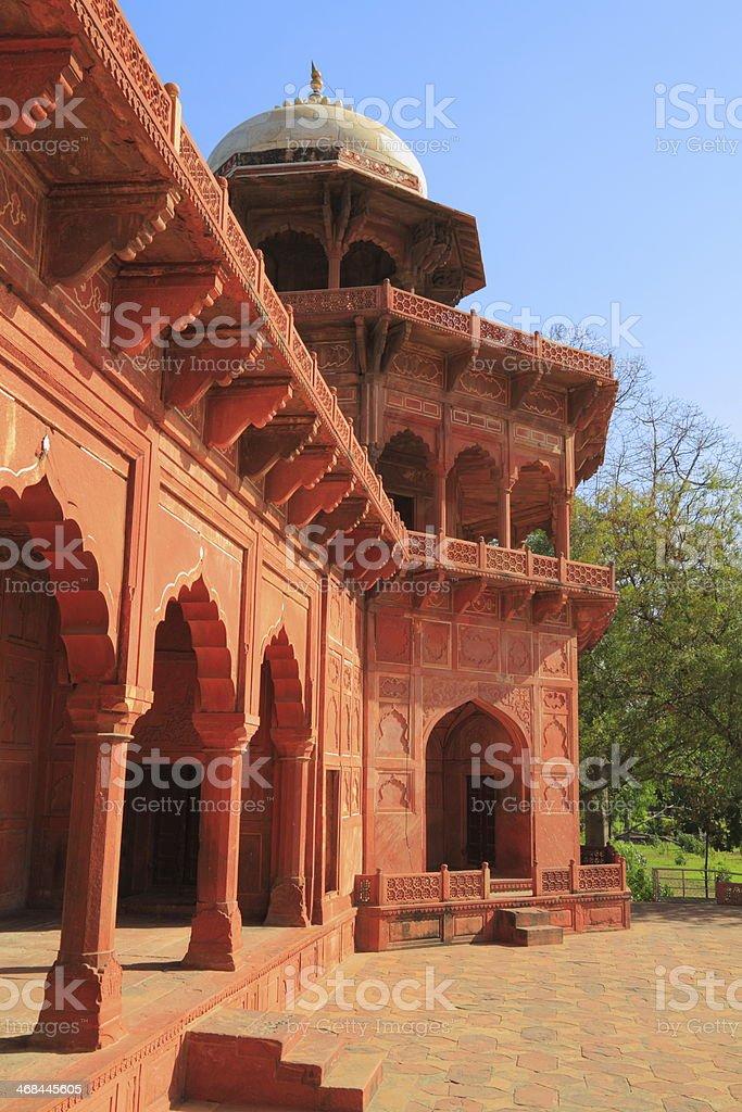 The Taj Mahal royalty-free stock photo
