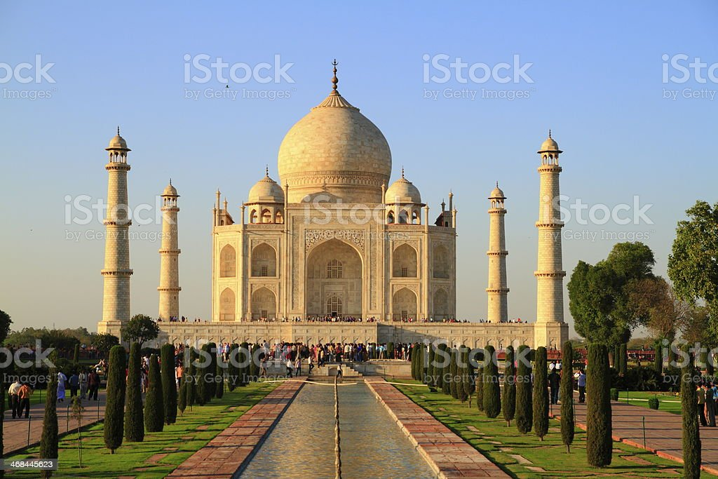 The Taj Mahal royalty-free stock photo
