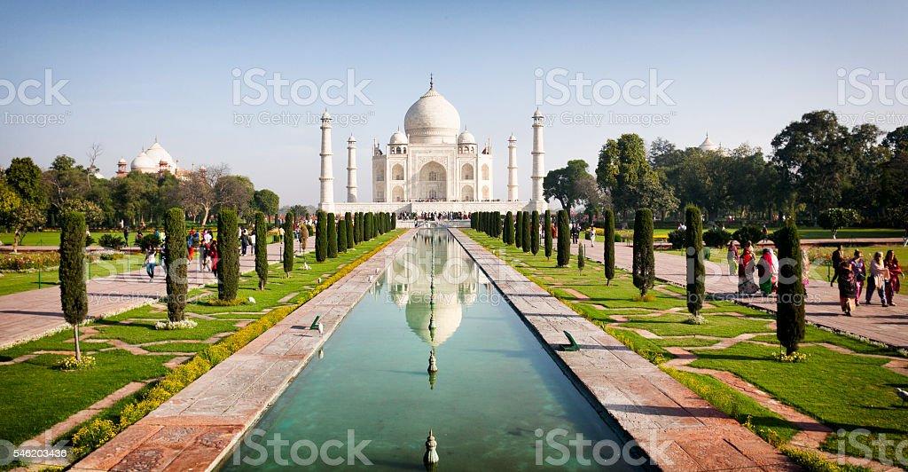 The Taj Mahal stock photo