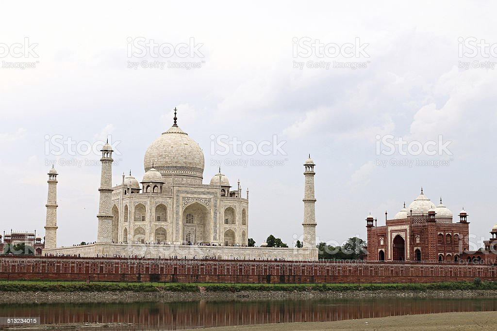 The Taj Mahal - Riverside stock photo