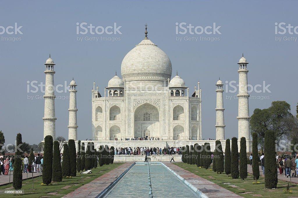 The Taj Mahal, UNESCO heritage site in Agra, India stock photo