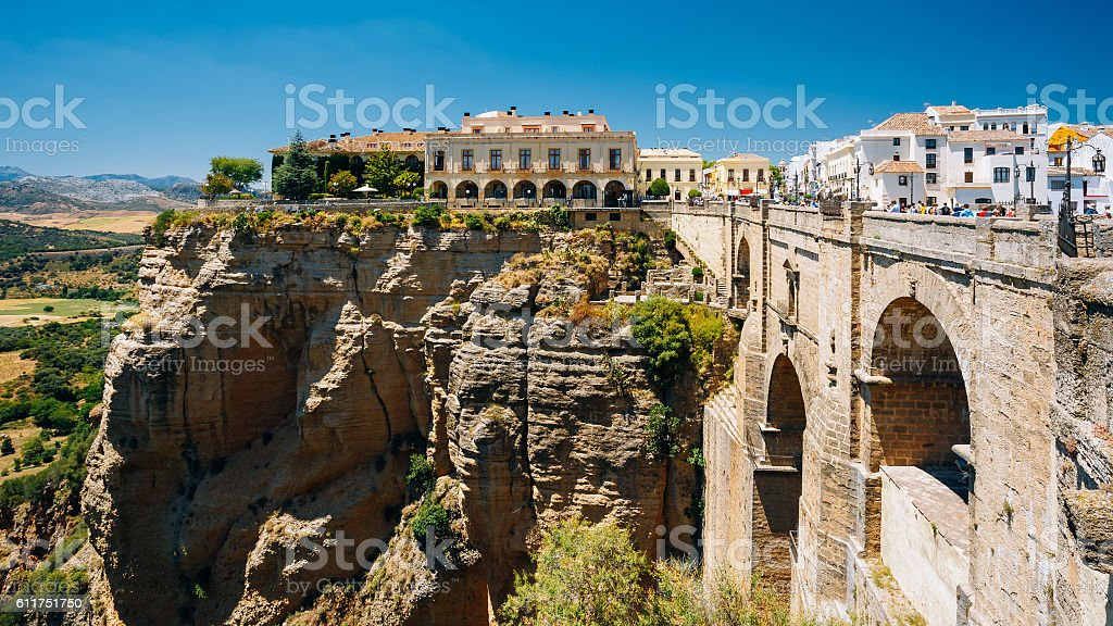 The Tajo De Ronda Is Gorge Carved By  Guadalevin River stock photo