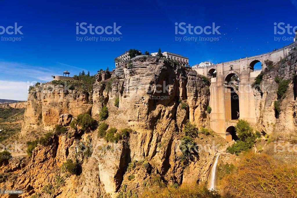 The 'Tajo' of Ronda, Spain stock photo