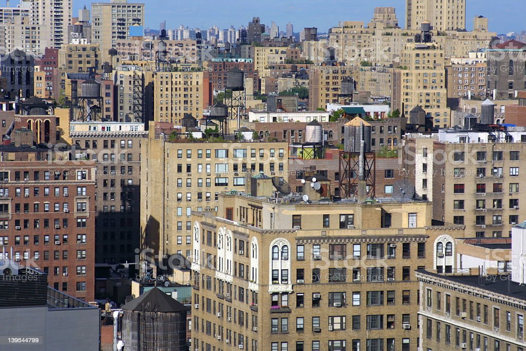 The tall buildings of New York City stock photo