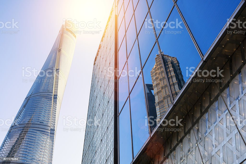 The tallest building in Shanghai stock photo