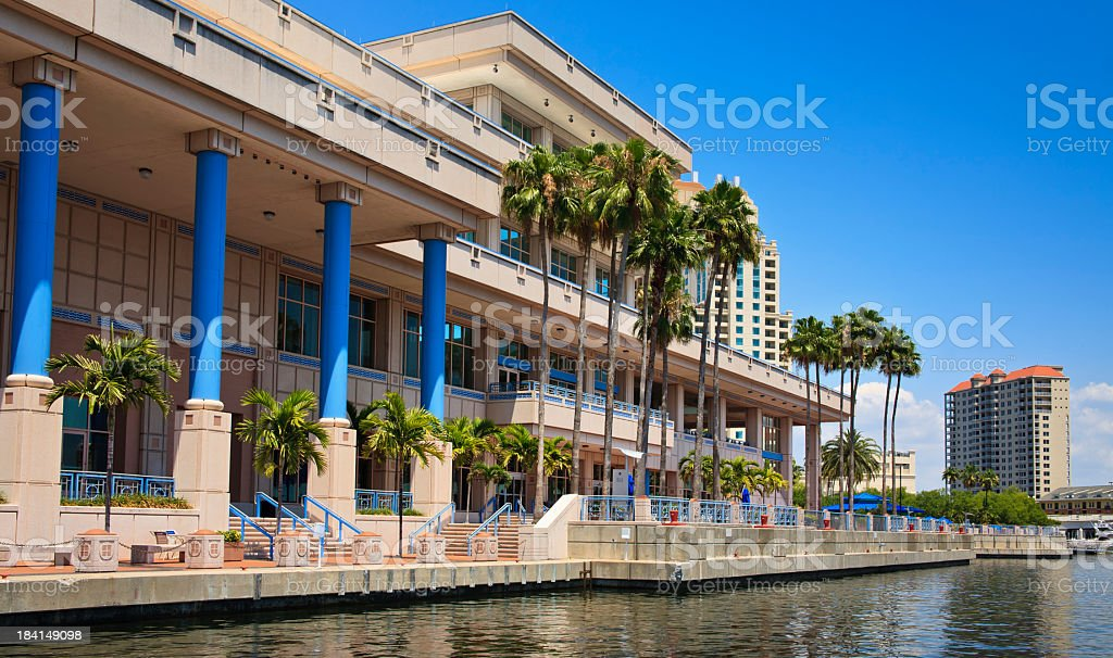 The Tampa Convention Center during the day  royalty-free stock photo