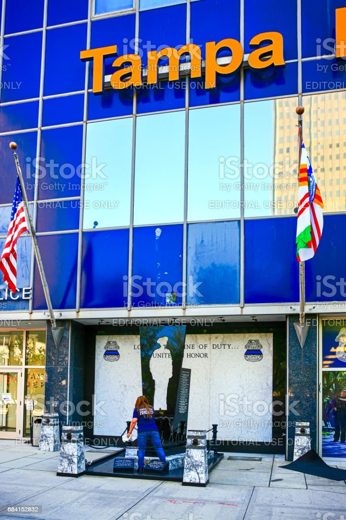The Tampa Police building and Museum in the downtown area of this Florida city. stock photo