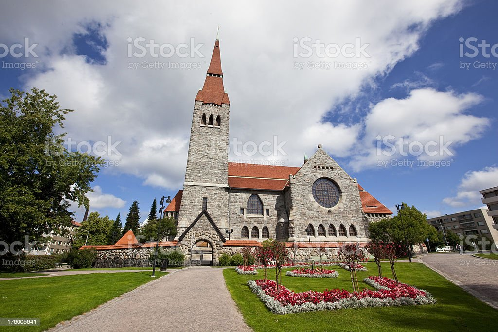The Tampere Cathedral stock photo