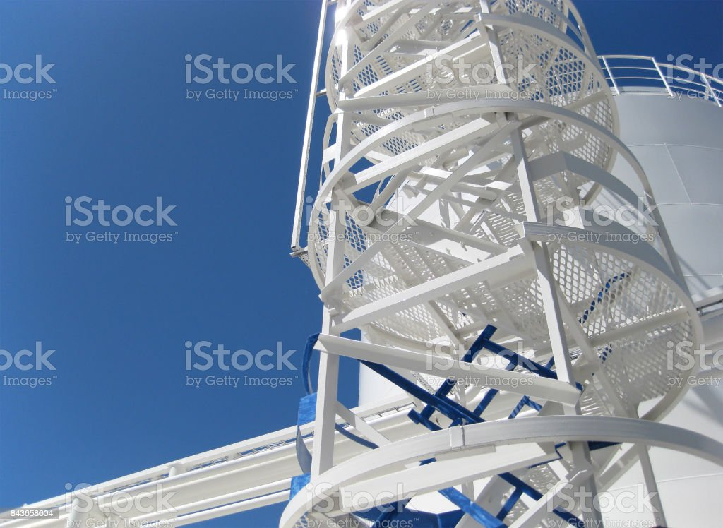 The tank with water and a ladder. stock photo