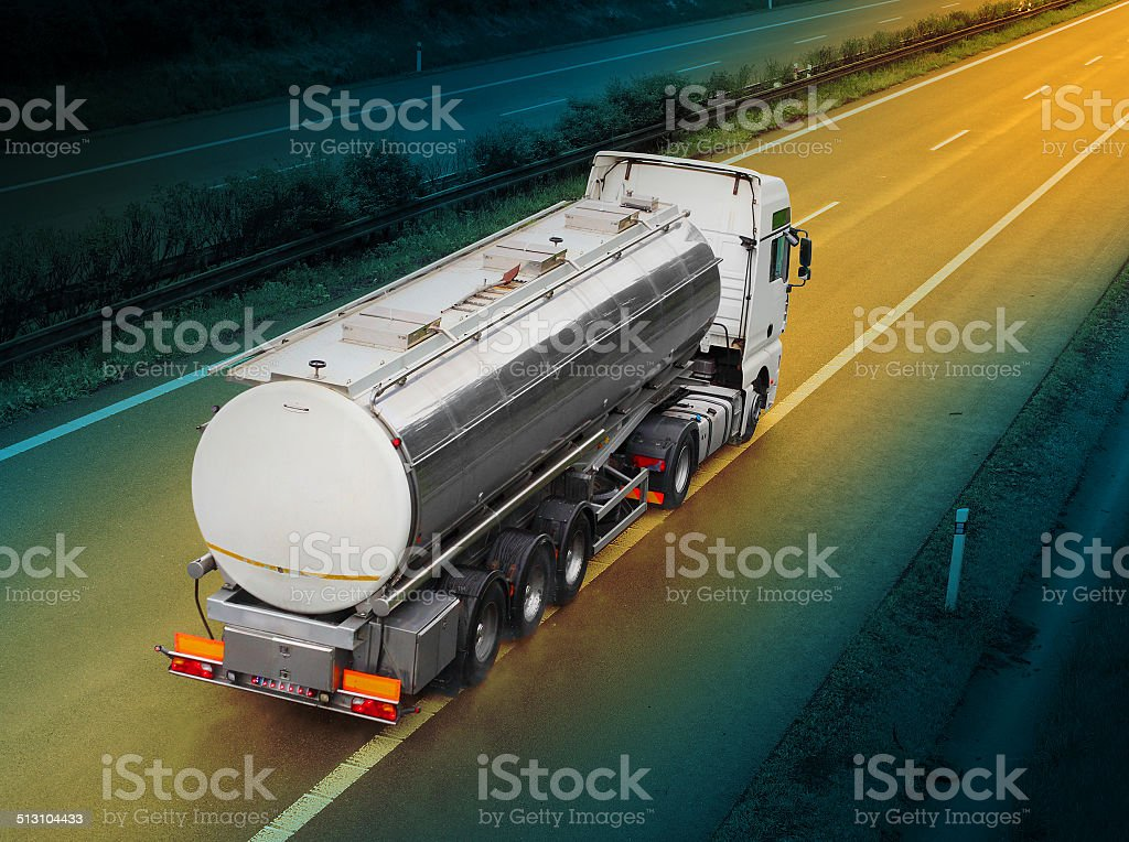 The Tanker Truck stock photo