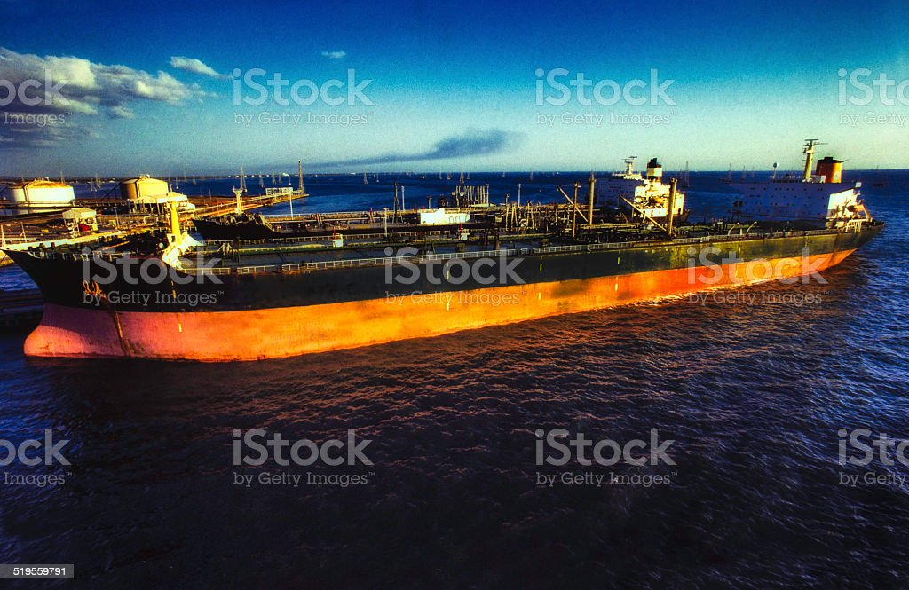 The Tankers in harbour stock photo