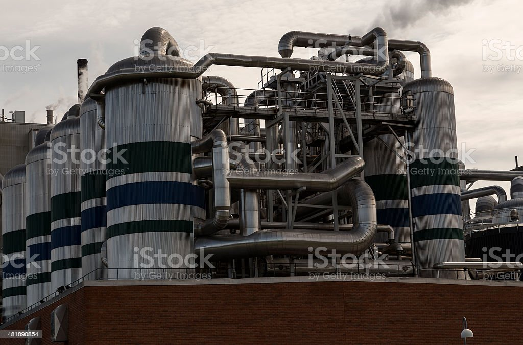 The tanks of the factory royalty-free stock photo