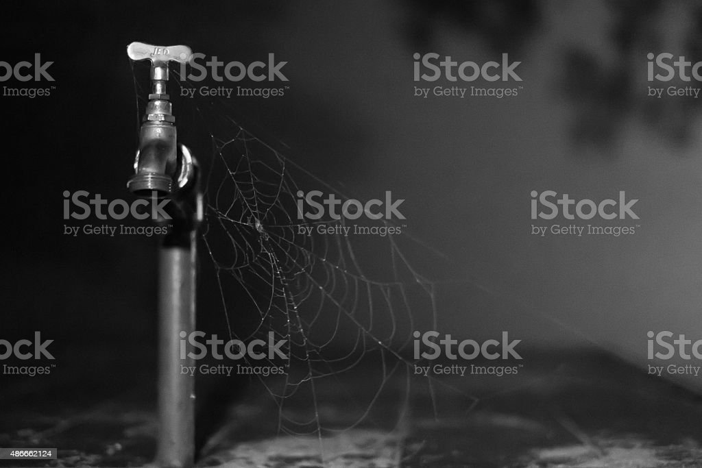 The Tap and the Web (Dry Fountain) stock photo