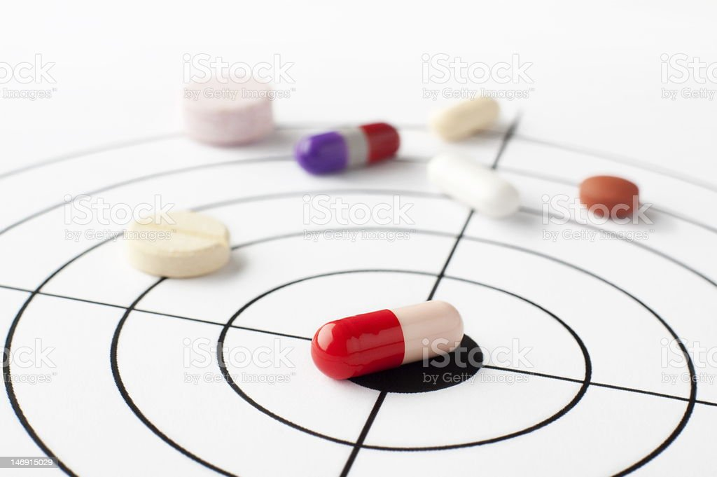 The targeted disease stock photo