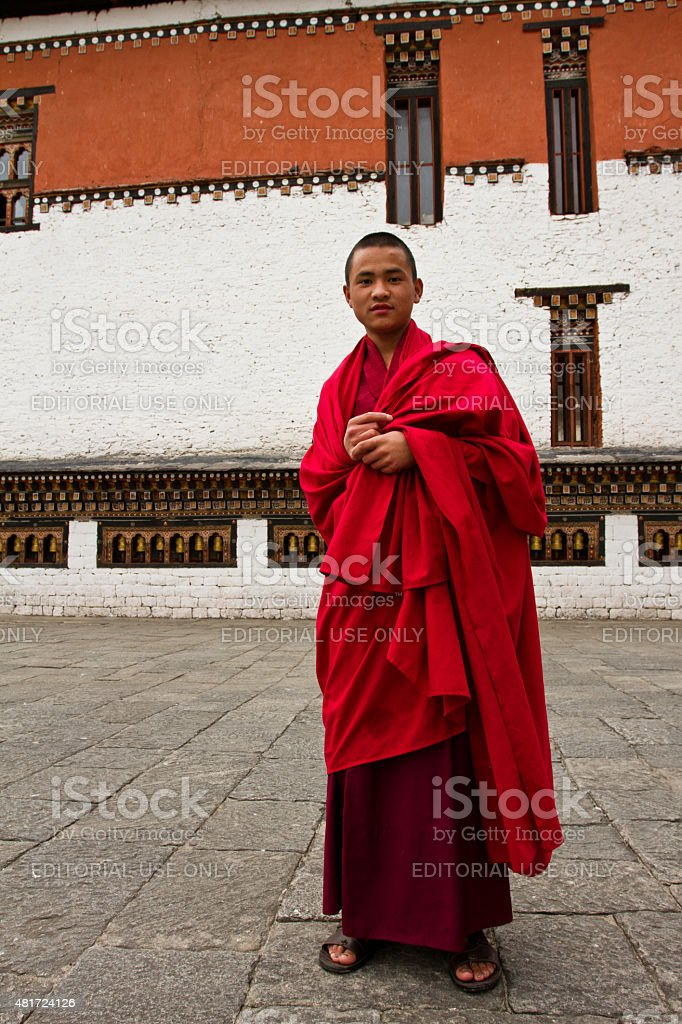 The Tashi Chho Dzong Fortress, Thimpu, Bhutan stock photo