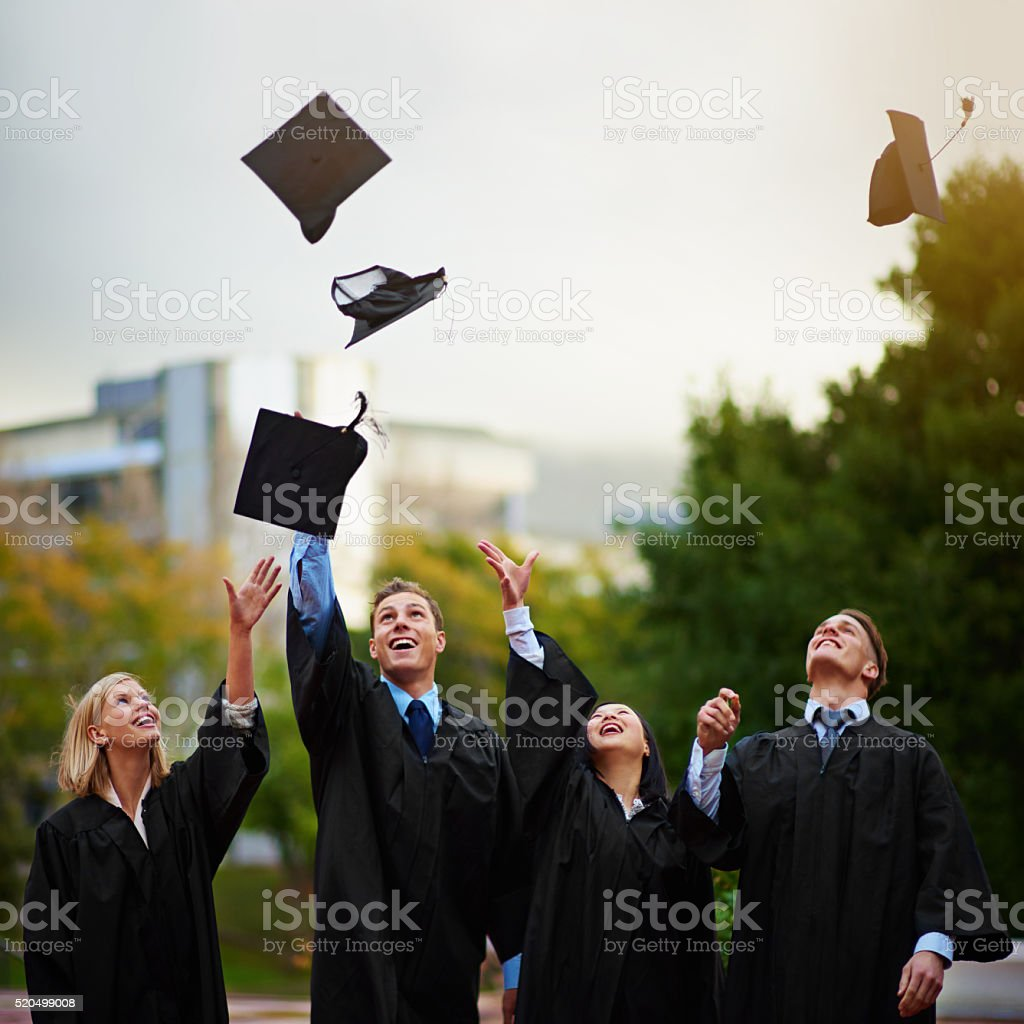 The tassel was worth the hassle stock photo