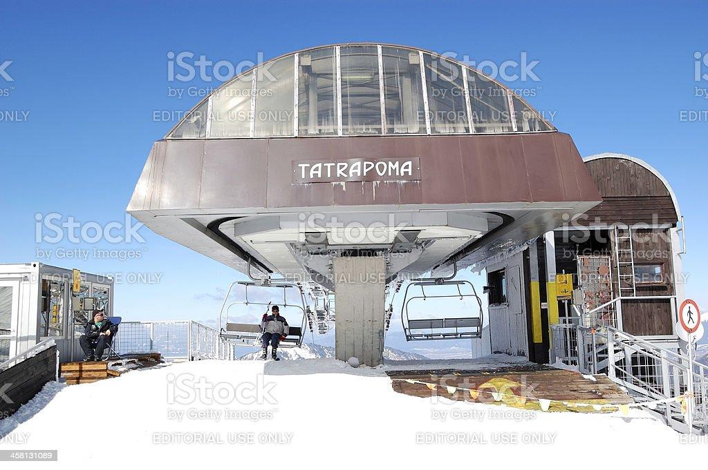 The Tatrapoma cableway station in Jasna Low Tatras stock photo