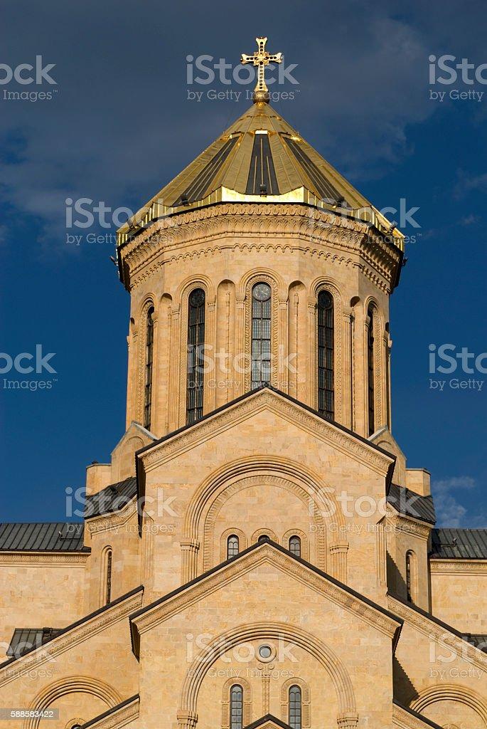 The Tbilisi Holy Trinity Cathedral. Georgia stock photo