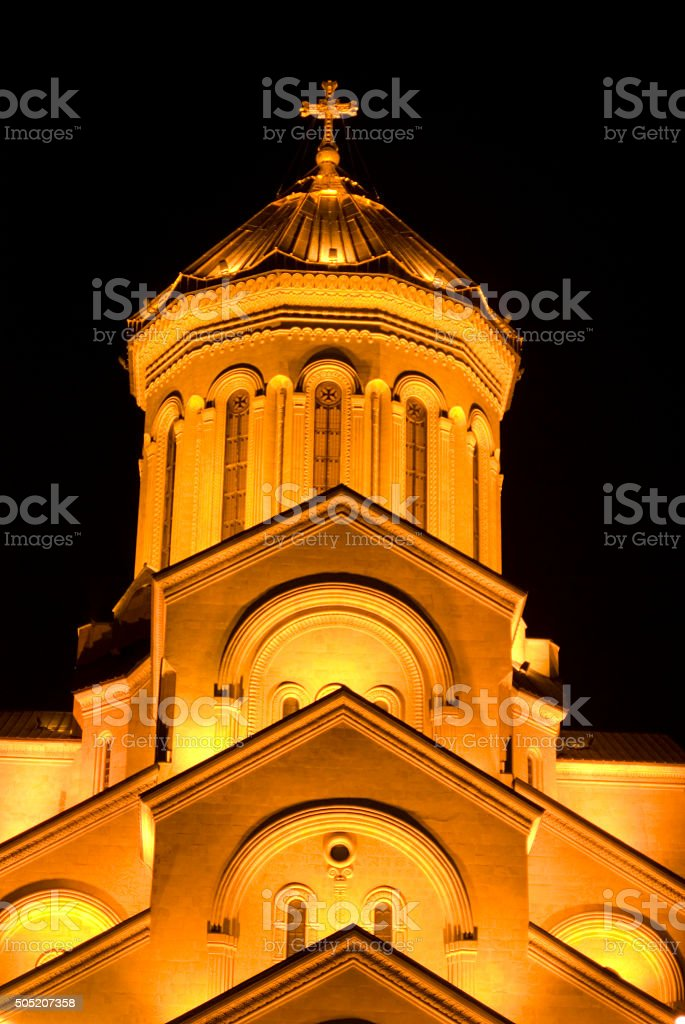 The Tbilisi Holy Trinity Cathedral stock photo