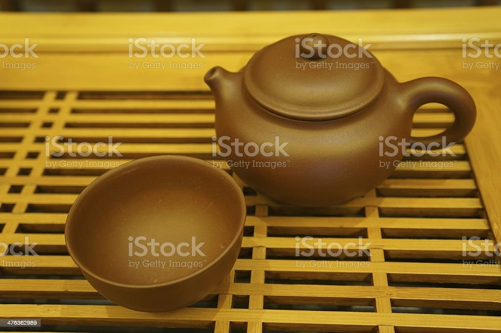 The tea sets are recommended royalty-free stock photo