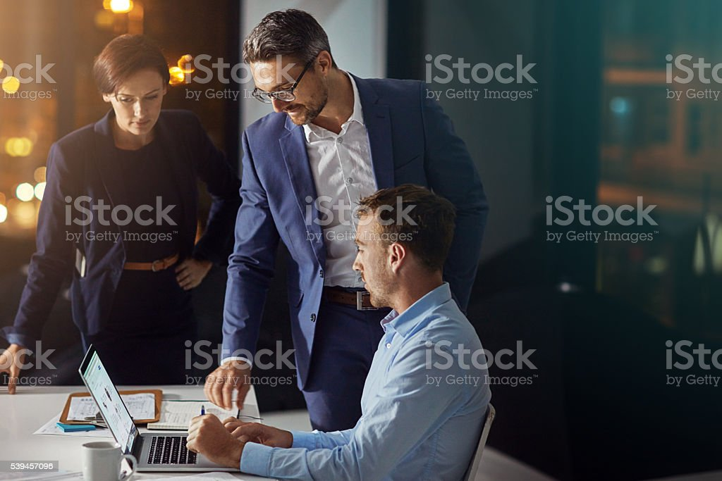 The team that puts their productivity first stock photo