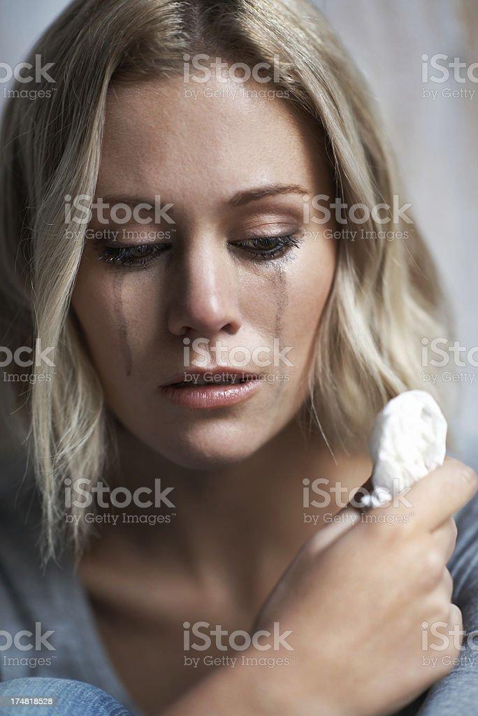 The tears of sorrow royalty-free stock photo