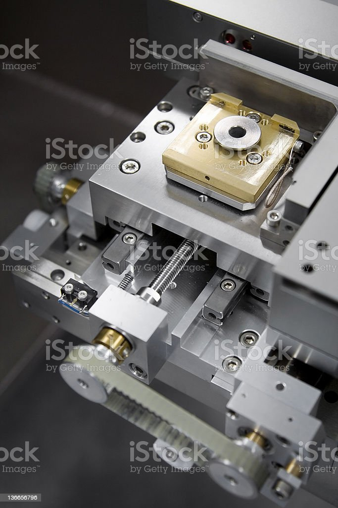 The technical aspect of an E-beam machine stock photo