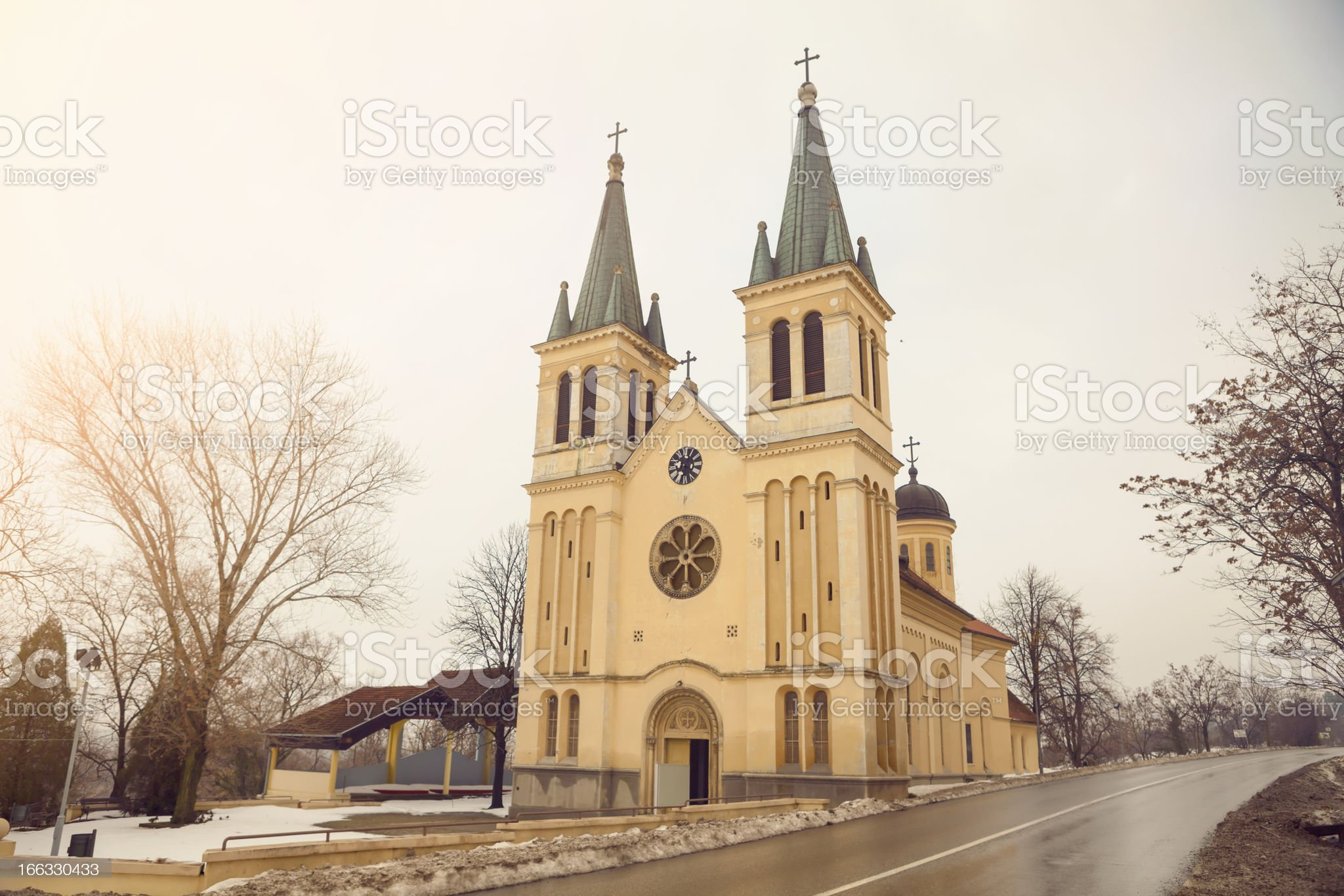 The Tekije Church, Novi Sad, Serbia royalty-free stock photo
