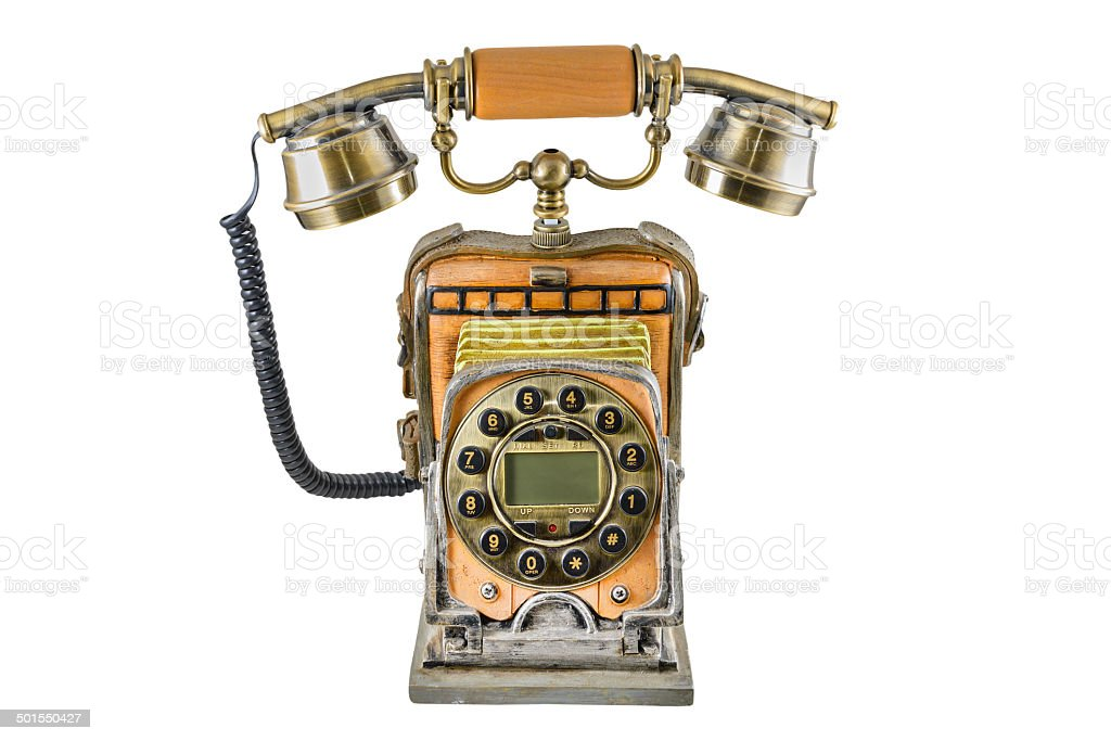 The telephone in style of a retro stock photo