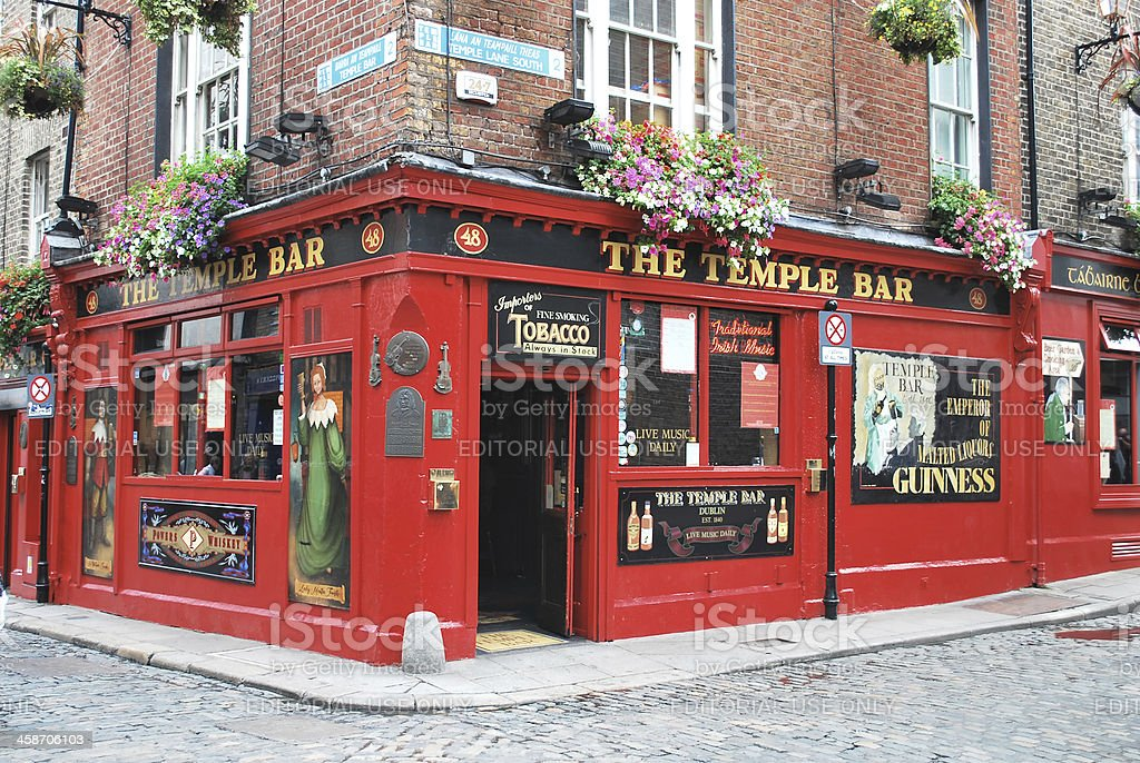 The Temple Bar stock photo