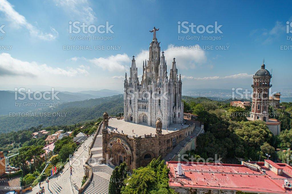 The Temple Expiatori del Sagrat Cor stock photo