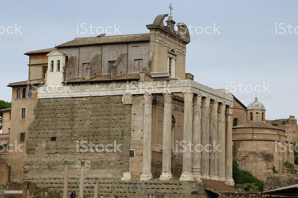 The Temple of Antoninus and Faustina stock photo