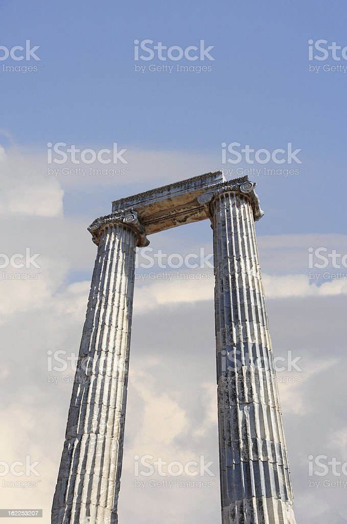 The Temple of Apollo at Didyma royalty-free stock photo