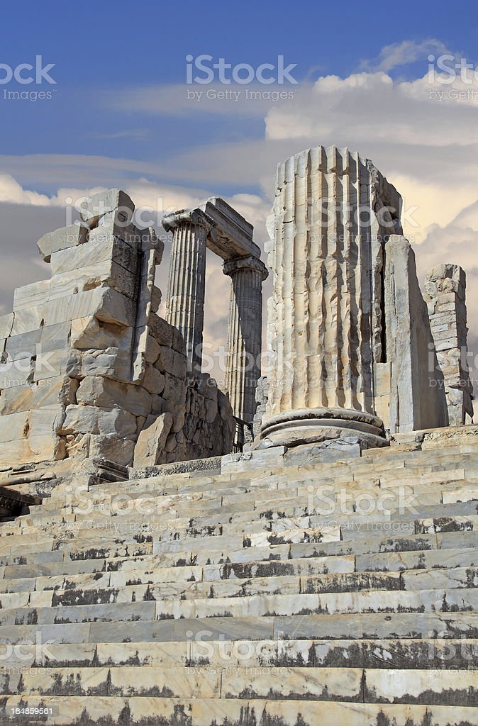 The Temple of Apollo at Didyma stock photo