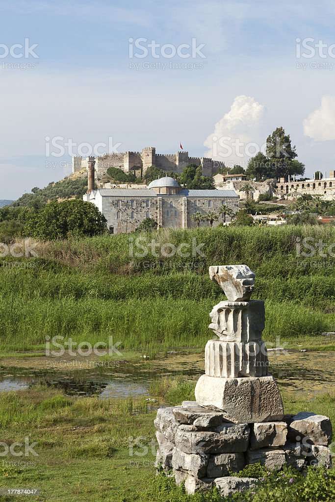 The Temple of Artemis, royalty-free stock photo