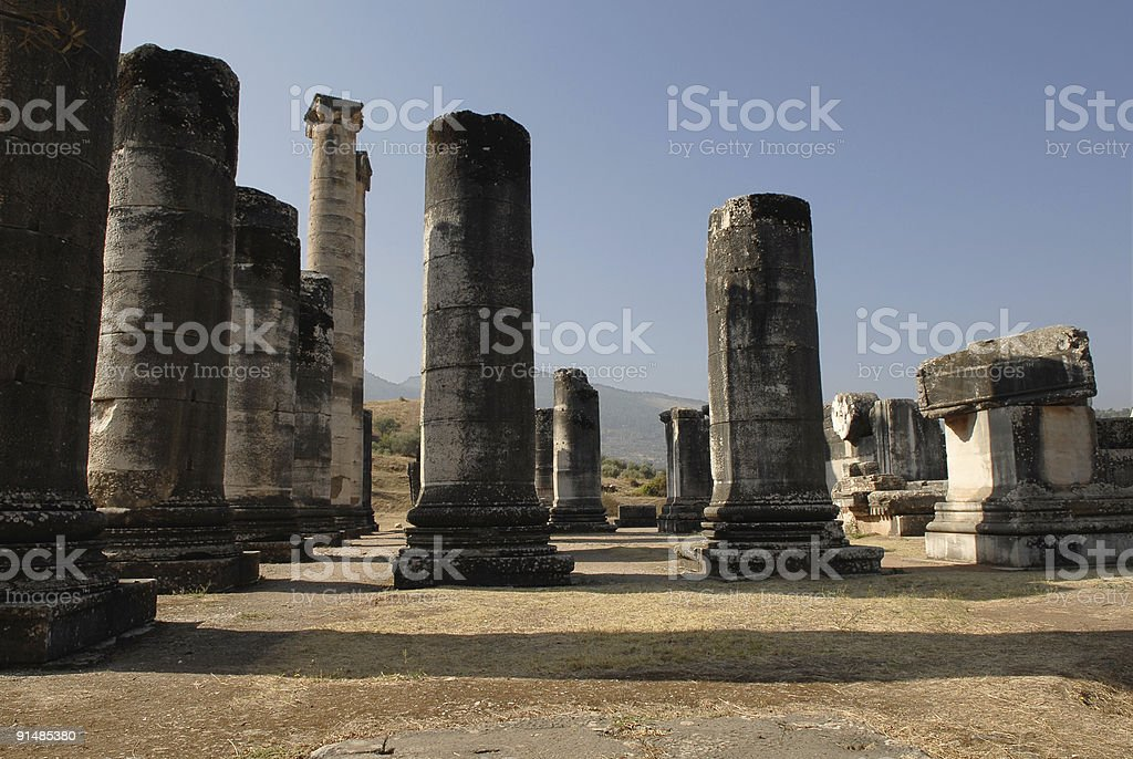 The Temple of Artemis royalty-free stock photo