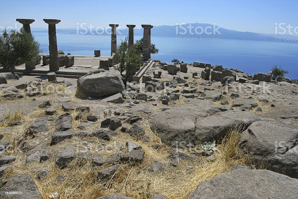 The Temple of Athena stock photo